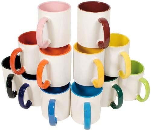 Keramiktasse farbig mit individuellem Motiv