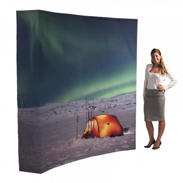 Pop Up Fabric Premium (Gebogen)