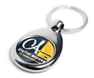 Schlüsselanhänger (rund) mit Ihrem Logo oder Wunschmotiv