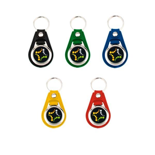 Schlüsselanhänger mit Lederband und Ihrem Wunschmotiv